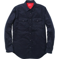 Corduroy Polka Dot Quilted Shirt